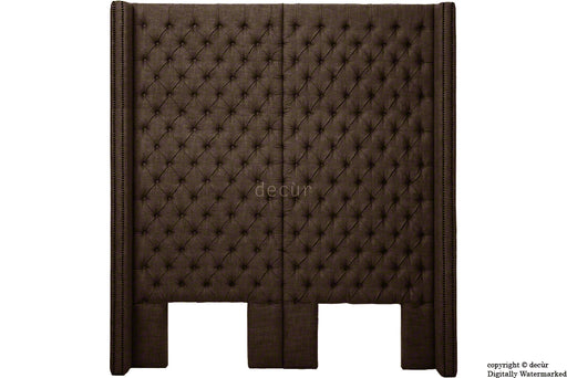 Beauchamp Buttoned Courtyard Linen Headboard Brown