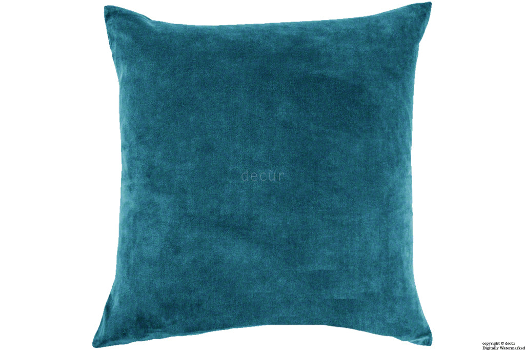 Malvern Velvet Cushion - Peacock