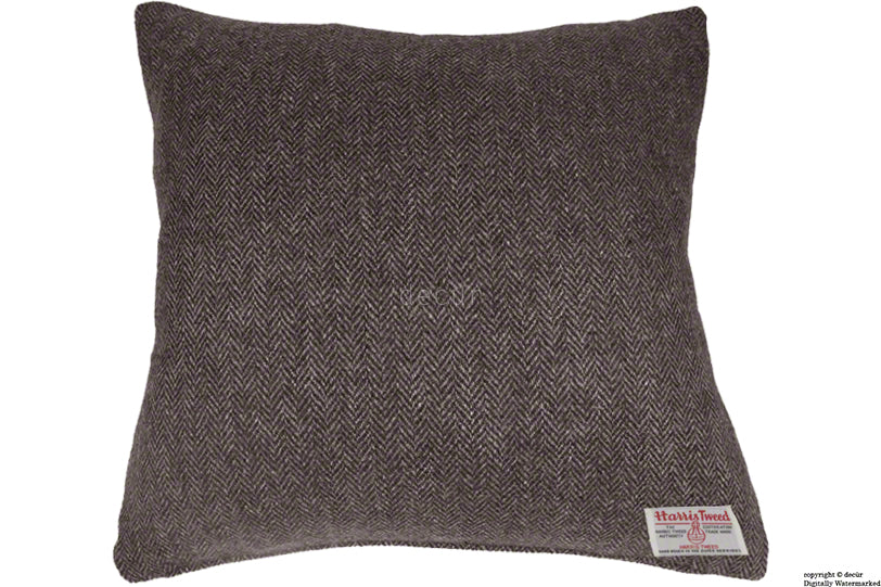 Harris Tweed Herringbone Cushion - Peatland