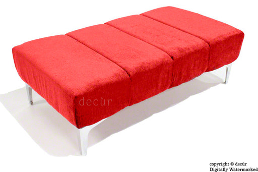 Abi Footstool - Red with Optional Storage