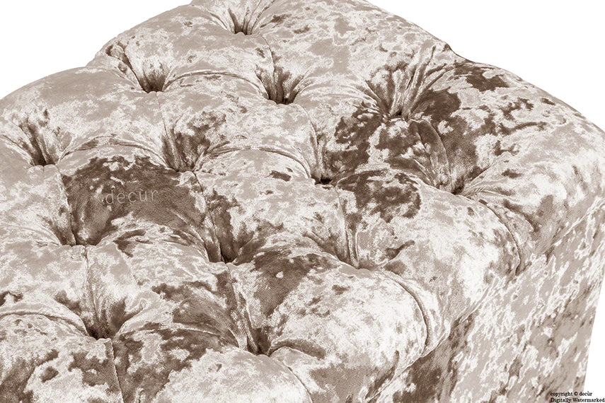 Viscount Crushed Velvet Ottoman - Charm