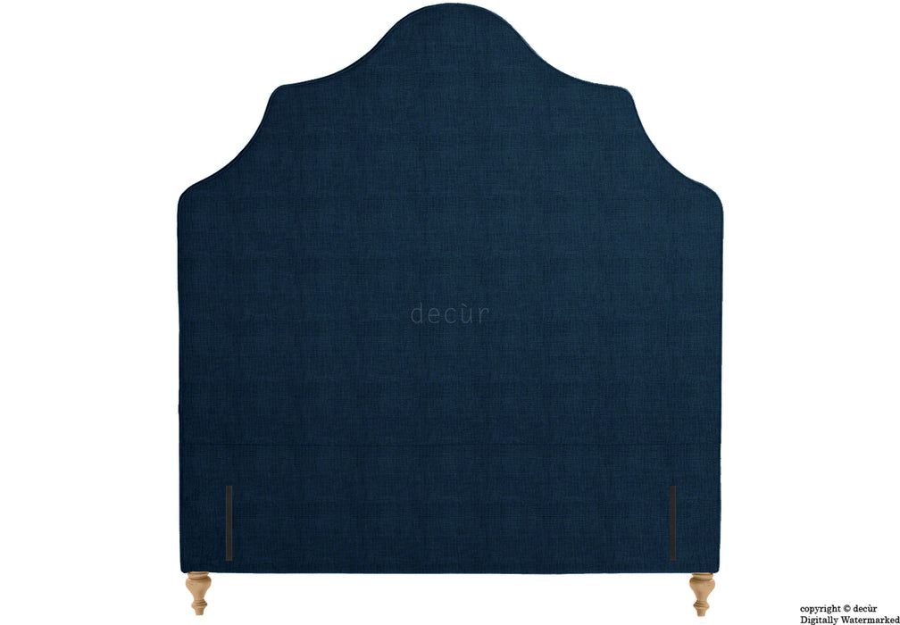 Elizabeth Floor Standing Headboard On Turned Wooden Legs - Midnight