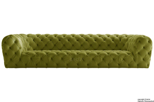 Charles Velvet Chesterfield Sofa - Grass