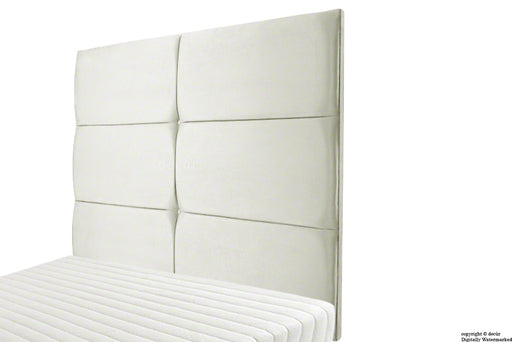 Bardi Wall High Velvet Headboard - Cream