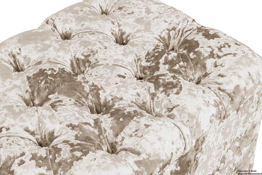 Viscount Crushed Velvet Ottoman - Moonlight