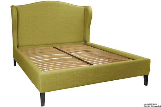 Regency Linen Winged Bed - Olive