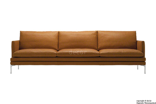 Notting Hill Leather Sofa - Tan