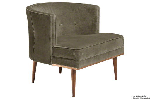 Tomas Scandinavian Velvet Arm Chair - Taupe