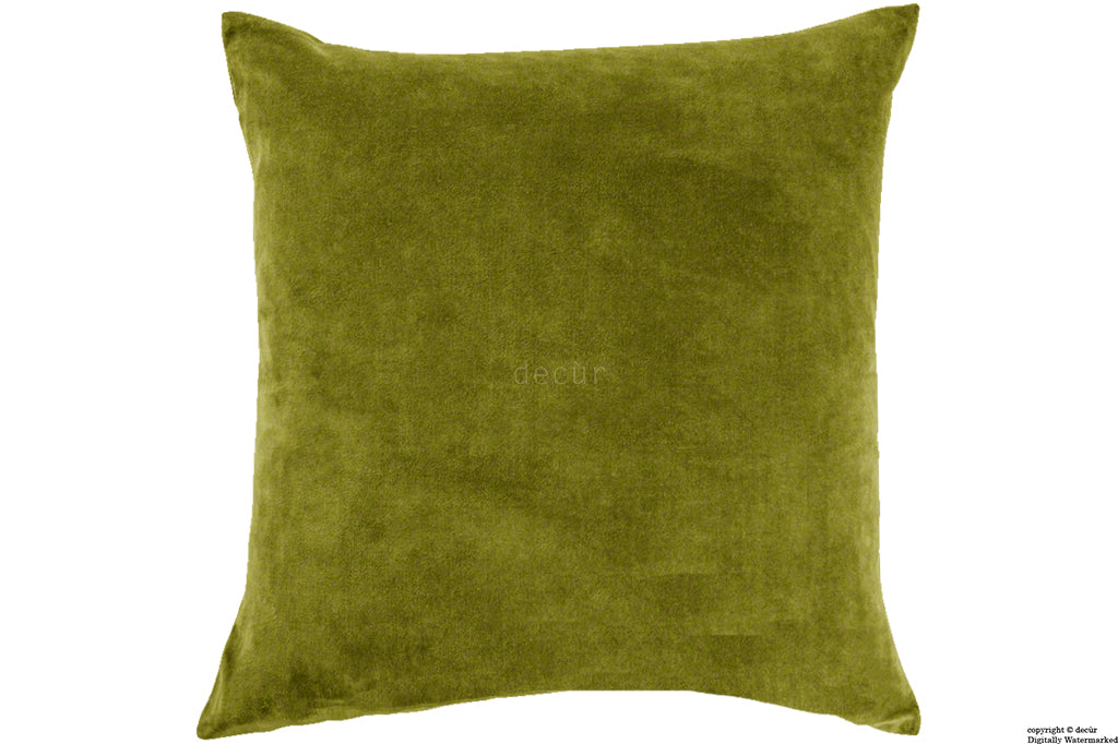 Malvern Velvet Cushion - Grass