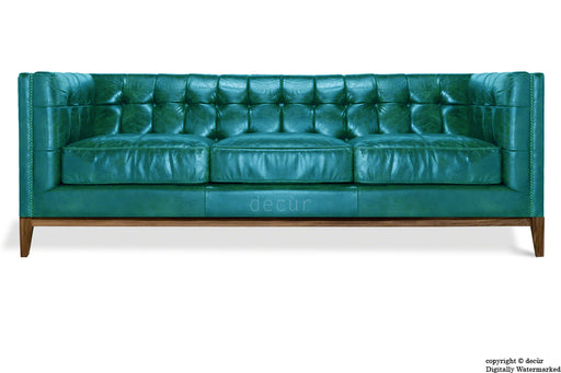 Mayfair Leather Sofa - Teal