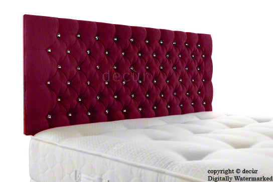 Tiffany Harrogate Buttoned Chenille Headboard - Pink