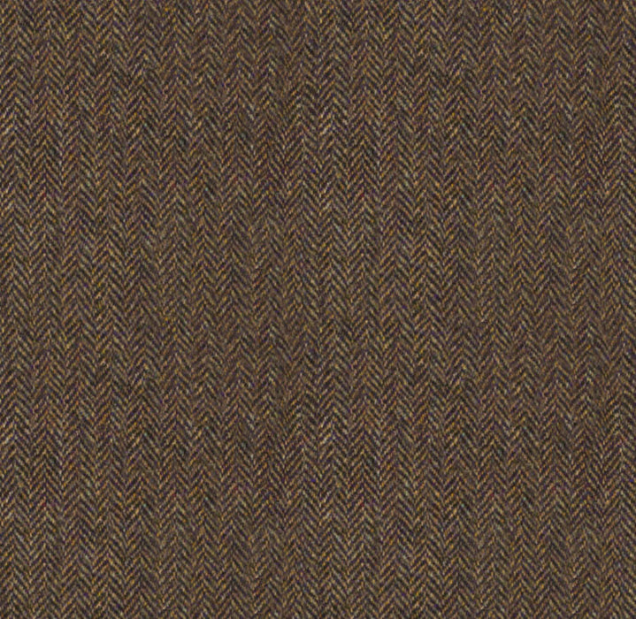 Malcolm Campbell Harris Tweed Salmon Bone Fabric - Glen Monarch Heather