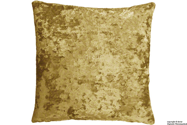 London Crushed Velvet Cushion - Gilded