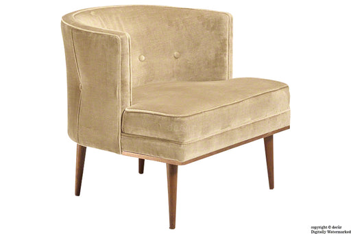 Tomas Scandinavian Velvet Arm Chair - Parchment