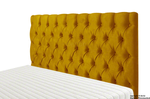 Tiffany Harrogate Buttoned Velvet Headboard - Gold