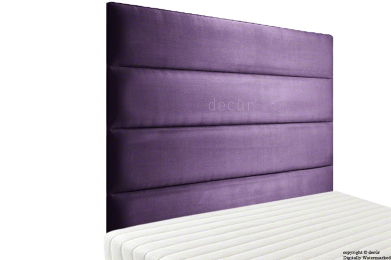 Boston Velvet Headboard - Amethyst