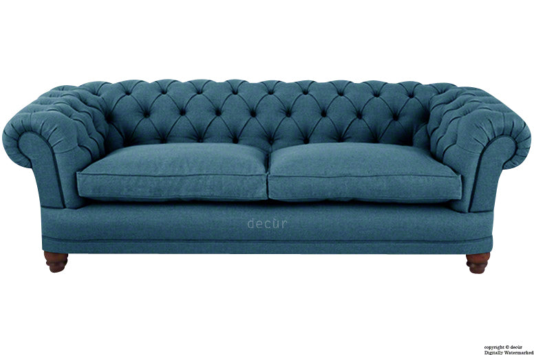 Abbotsford Linen Chesterfield Sofa - Denim