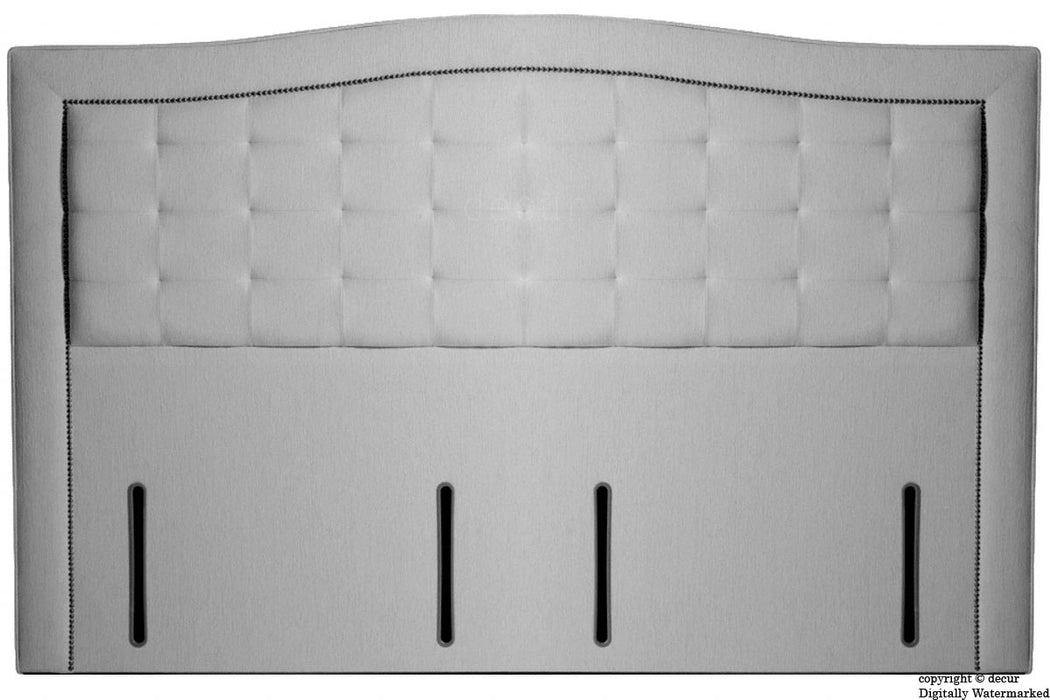 Paris Buttoned Chenille Headboard - Silver Grey