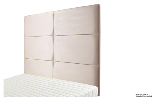 Bardi Wall High Faux Suede Headboard - Natural