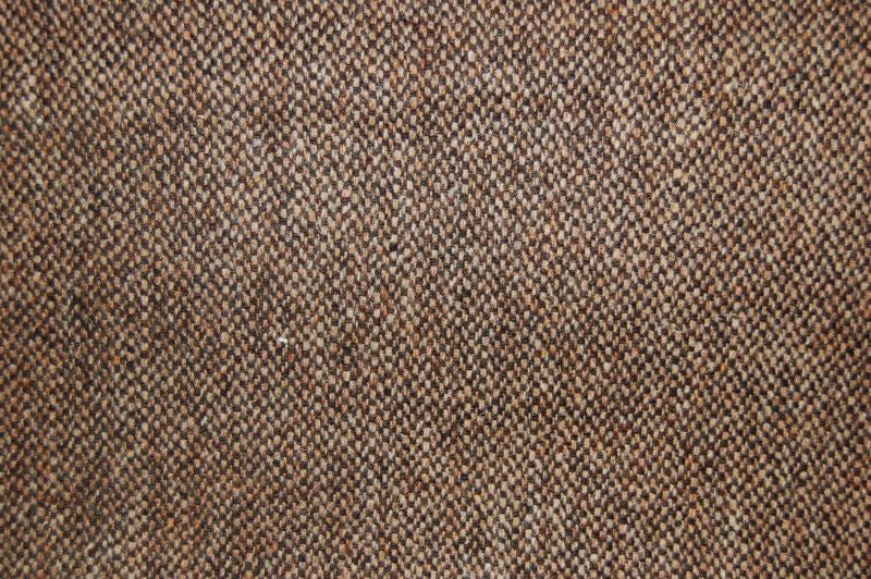 Harris Tweed Hebrides Plain Fabric - Laxdale Brown