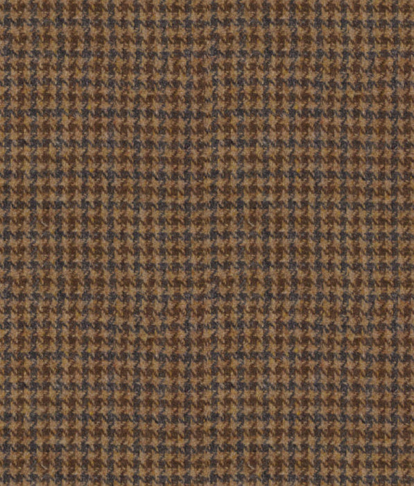 Malcolm Campbell Harris Tweed Wolf Tooth Fabric - Grouse Moor Bracken