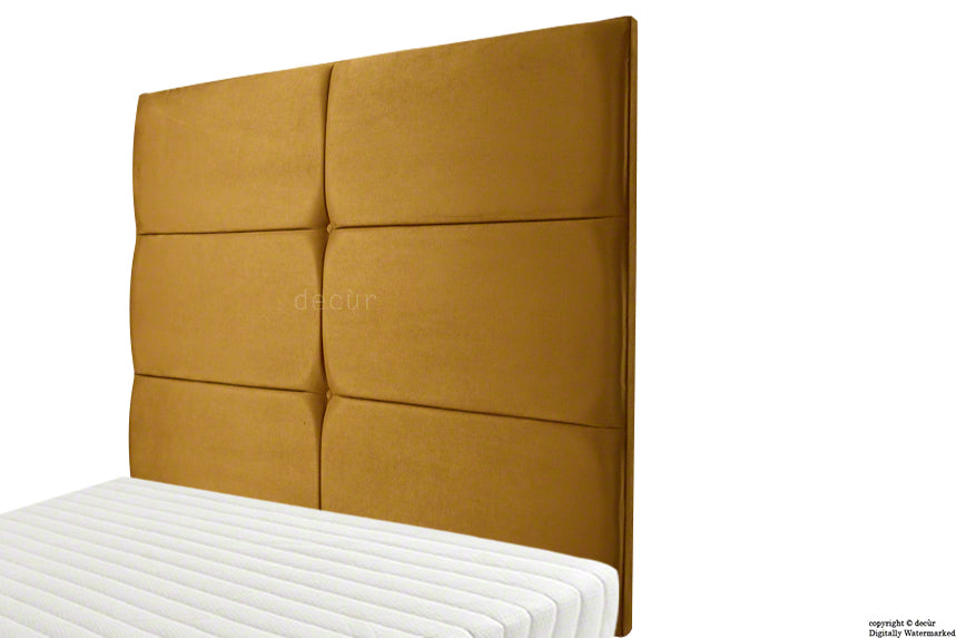 Bardi Wall High Velvet Headboard - Gold