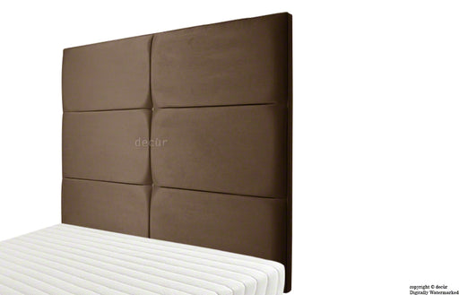 Bardi Wall High Faux Suede Headboard - Brown