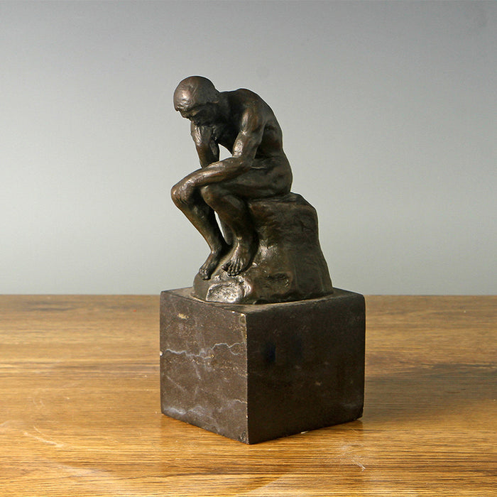 Famous Bronze Sculpture, Statue, Figurine, Reproduction Rodin Masterpiece Thinker Statue, in Bronze
