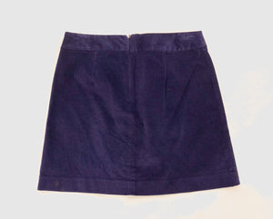 Ann Taylor Loft Purple Corduroy Mini Skirt