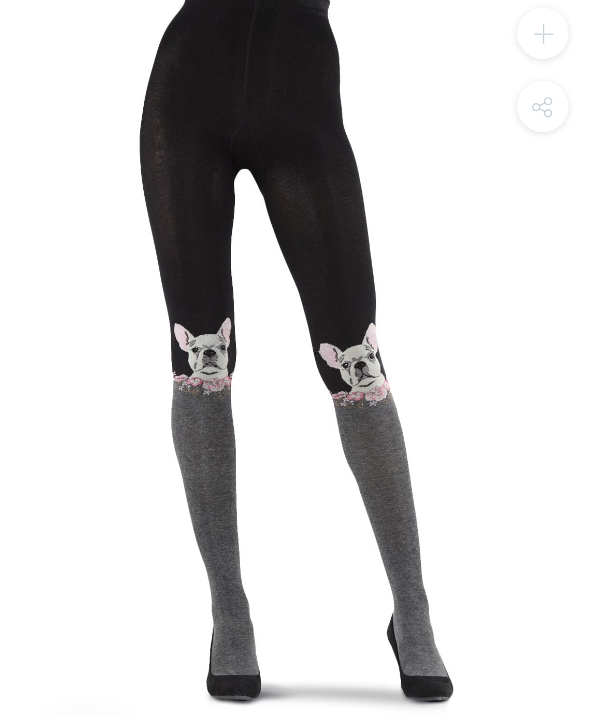FRENCHIE FACE SWEATER TIGHTS