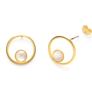 Orbit Studs available in Mother of Pearl or Black Tahitian