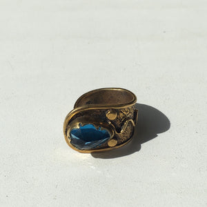 Blue bronze ring