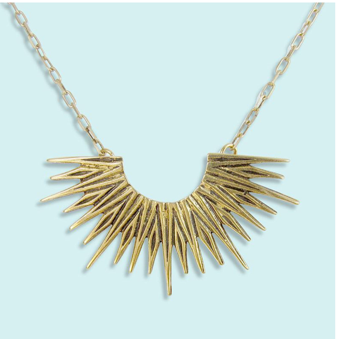 HALF RADIANT SUN NECKLACE