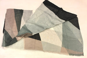 Scarf with Geometric shapes