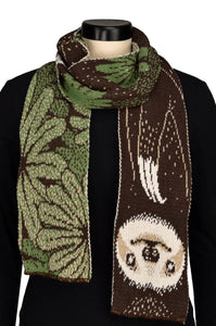 Women's Recycled Cotton Sweater Knit Fashion Scarf - Sloth