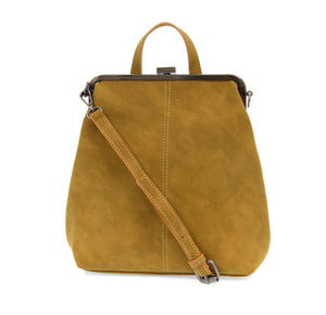 Phyllis Nubuck Frame Convertible Backpack