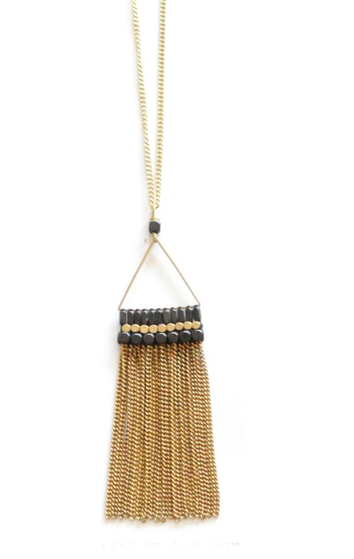 Golden Chain Tassel Necklace
