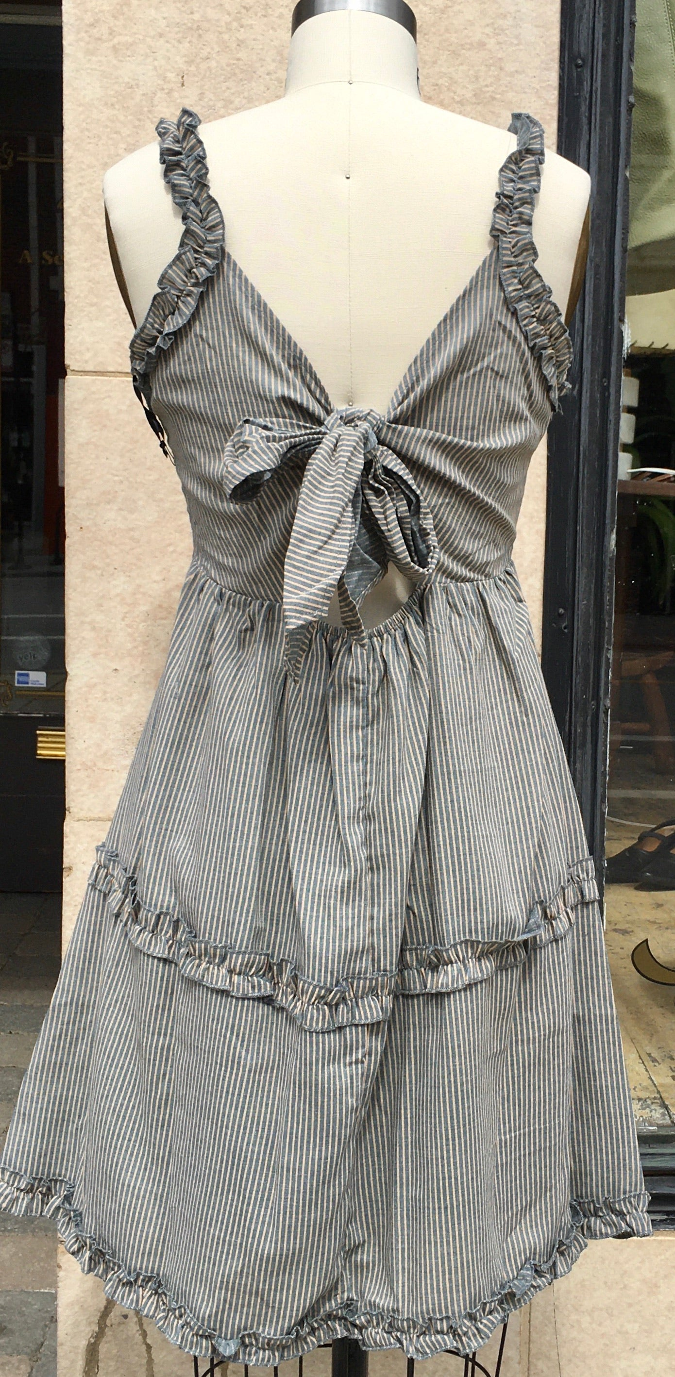 Pinstripe dress