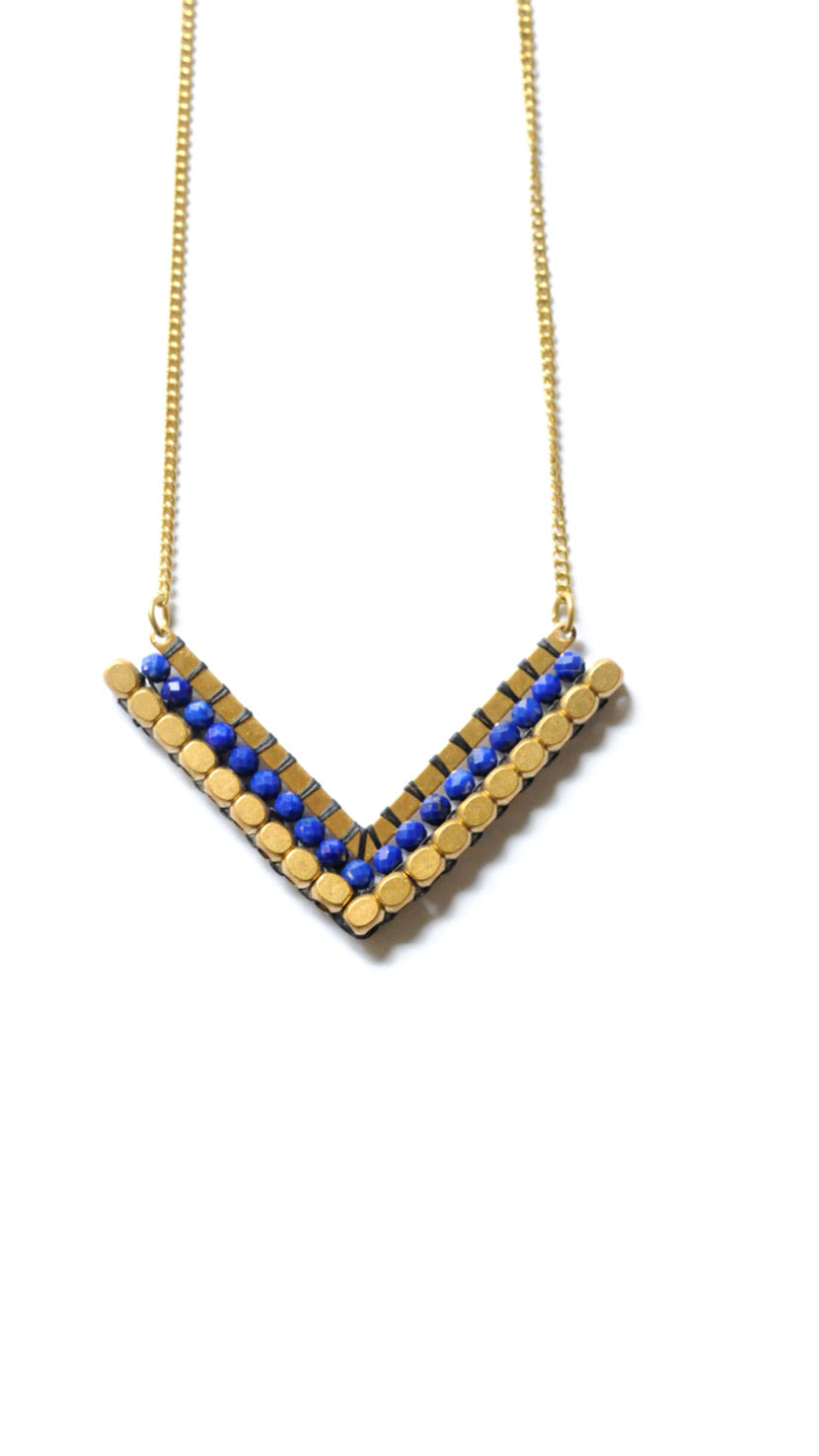 V-Shaped Woven Necklace (short)