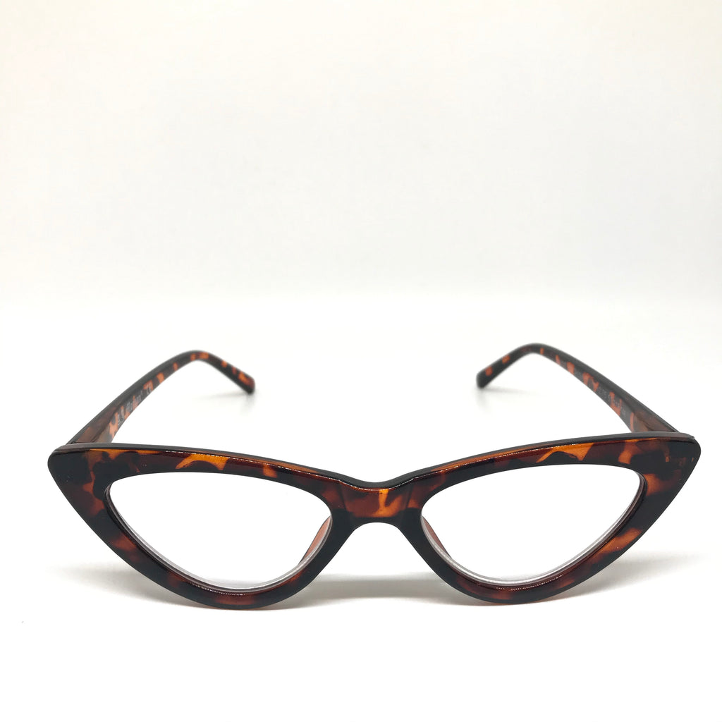 Cat eye tortoise shell reading glases