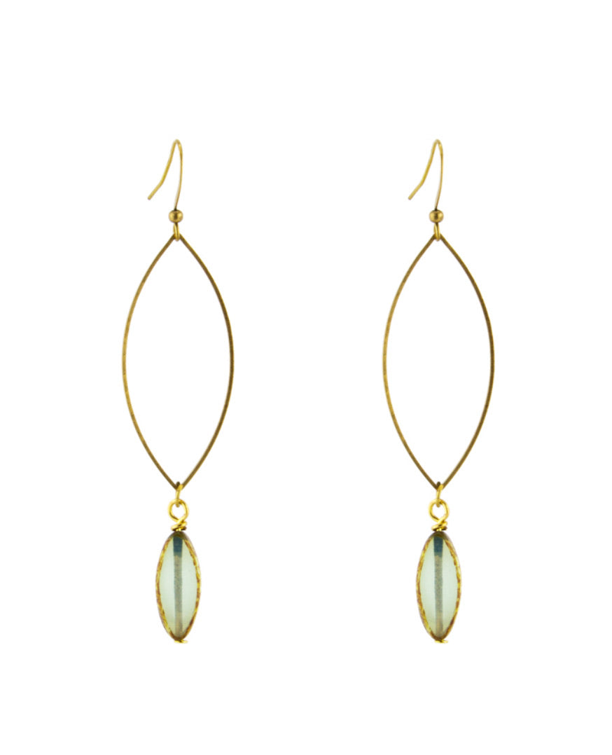 Crystal Marquise Turquoise Earrings