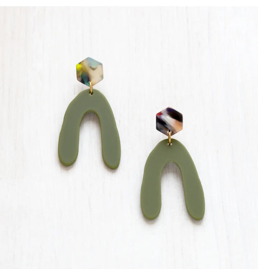 Acetate Modern Mountain Earrings