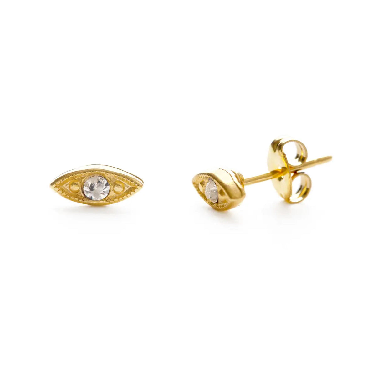 22EYE-CRY | Eye Studs- Crystal