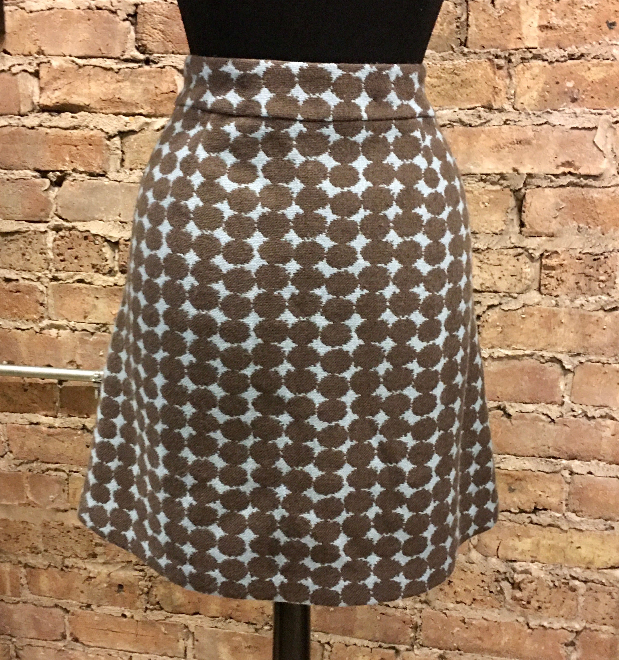 Boden Skirts | Fabulous Wool Skirt Nwot | Color: Blue/Brown | Fabloot's Closet