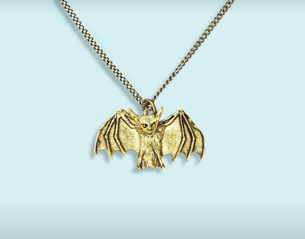 Gold Small Bat Necklace