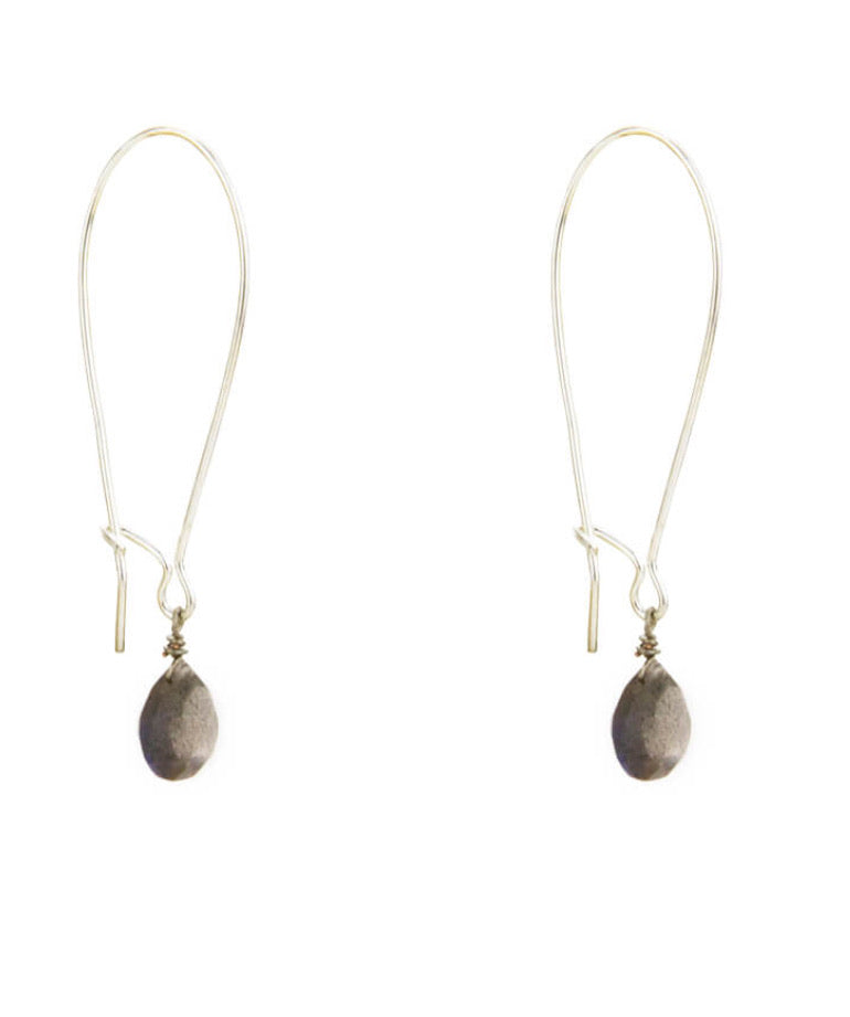 Long Wire Labradorite Earrings