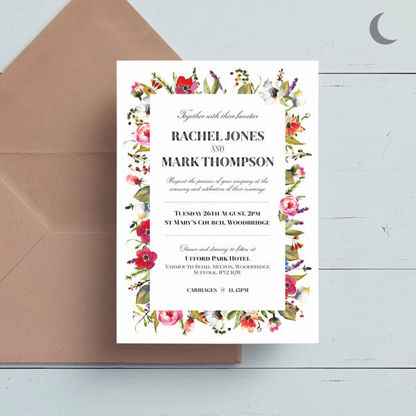 Bloom Reception Invite