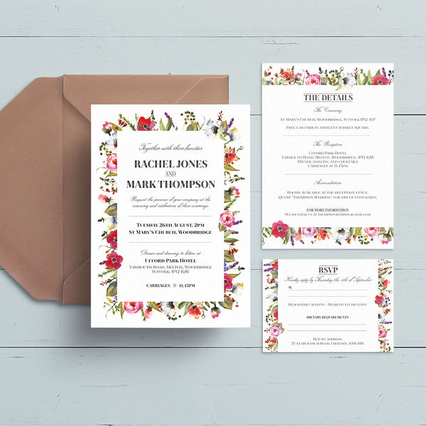Bloom Wedding Invite