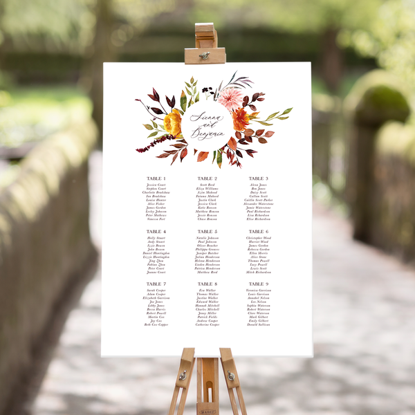 Bronzed Garland Table Plan