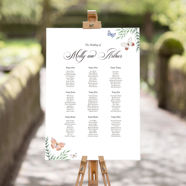 Butterfly Bliss Table Plan